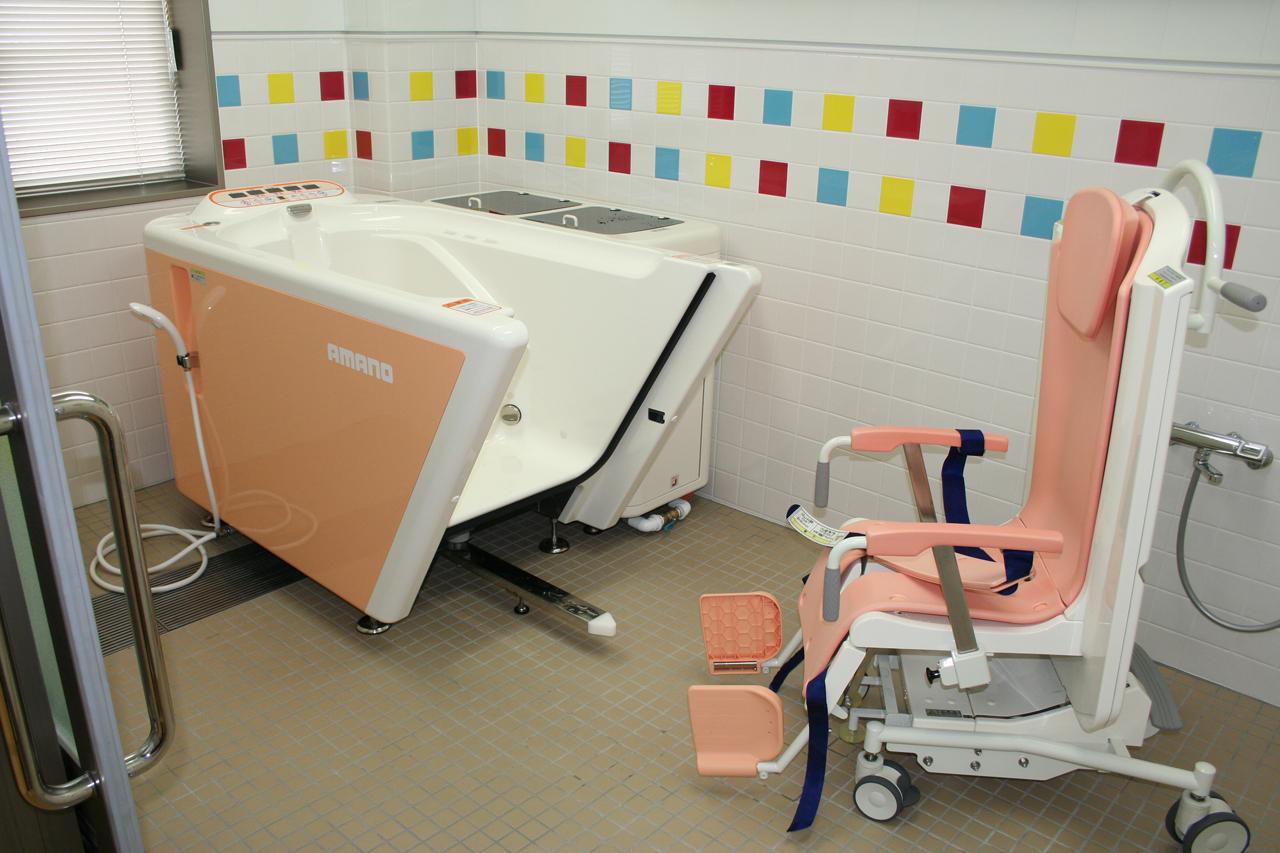安心の機械浴